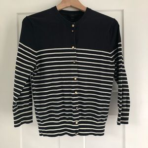 J. Crew cardigan with gold buttons. Sz M